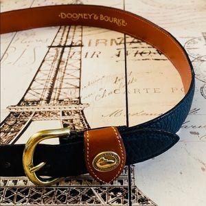 Dooney & Bourke Navy Pebbled Leather Belt